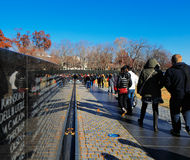 The Vietnam Veterans Memorial in Washington DC, USA Royalty Free Stock Photo