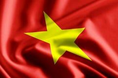 Vietnam flag illustration. Vietnam waving and closeup flag illustration. Perfect for background or texture purposes vector illustration