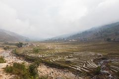 Vietnam, view of Muong Hoa Valley in Sa Pa royalty free stock photo