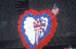 Vietnam Wall Memorial Stock Images
