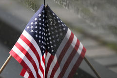 VIETNAM WALL MEOMORIAL FLAG Royalty Free Stock Image