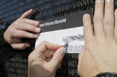 Vietnam Wall Rubbing Stock Images