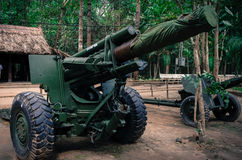 Vietnam war artillery Royalty Free Stock Photo