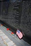 Vietnam War Memorial. In Washington DC Royalty Free Stock Photo