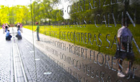 Vietnam War Memorial. People looking at the Vietnam Memorial Royalty Free Stock Images