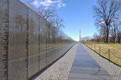 Vietnam War Memorial with Lincoln Memorial in Background Stock Image
