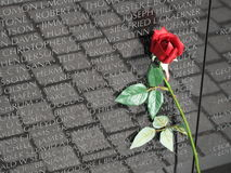 Vietnam War Memorial Rose Royalty Free Stock Photos