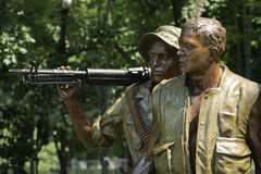 Vietnam War Memorial Soldiers in Washington D.C. Royalty Free Stock Photo