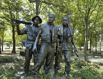 Vietnam war memorial statues Royalty Free Stock Photo