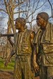 Vietnam War Memorial in Washington DC. Beautiful statues in front of the Vietnam War Memorial in Washington DC Royalty Free Stock Photos