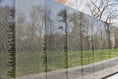 The Vietnam War Memorial in Washington, DC Stock Image