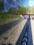 Vietnam War Memorial in Washington DC stock photos
