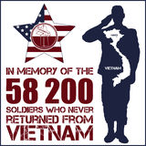 Vietnam war. Remembrance day. Vector illustration Patriotic card Royalty Free Stock Photos