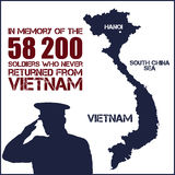 Vietnam war. Remembrance day Royalty Free Stock Photos