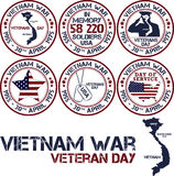Vietnam war. Remembrance day. Vector illustration Patriotic stamps Stock Photo