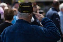 Vietnam war veteran stock image
