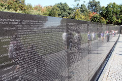 Vietnam War Veterans Memorial Stock Image