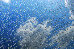 Vietnam War Veterans Memorial in DC Royalty Free Stock Photos
