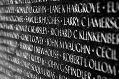Vietnam war veterans memorial in Washington DC stock photography