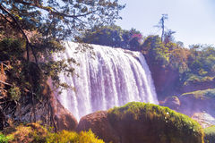 Vietnam waterfall on mountain landscapes Royalty Free Stock Image