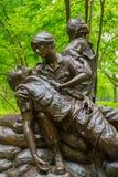 Vietnam Women`s Memorial designed by Glenna Goodacre, dedicated. On November 11, 1993 Royalty Free Stock Photo
