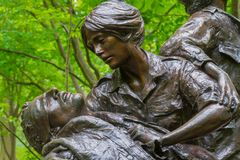 Vietnam Women`s Memorial designed by Glenna Goodacre, dedicated. On November 11, 1993 Royalty Free Stock Photos