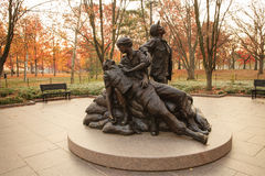 Vietnam Women's Memorial Statue. The Vietnam Women's Memorial is dedicated to the women of the United States who served in the Vietnam War, most of whom were royalty free stock photos
