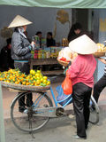Vietnam women sell fruits Stock Image