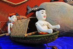 Vietnam Wooden Water Puppets Royalty Free Stock Photos