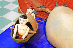 Vietnam Wooden Water Puppets Royalty Free Stock Photography