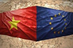 Vietnam y unión europea ilustración del vector