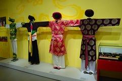 Vietname - Hanoi - os trajes das mulheres tradicionais Imagem de Stock Royalty Free