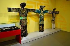 Vietname - Hanoi - a roupa das mulheres tradicionais Fotos de Stock