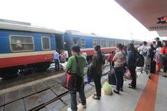 Vietname Hue Railway Station Arkivbild