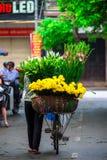 Vietname kwiaciarni sprzedawca w Hanoi Obraz Royalty Free