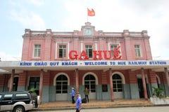 Vietname odcienia stacja kolejowa Fotografia Royalty Free