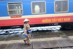 Vietname odcienia stacja kolejowa Zdjęcie Royalty Free