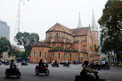 Vietname - Saigon - catedral de Ho Chi Minh - de Notre-Dame Fotos de Stock Royalty Free