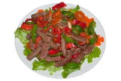 Vietnamees beweegt Gebraden Rundvlees stock afbeelding