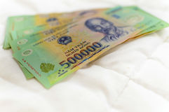 Vietnamees geld 500.000 Dongbankbiljet Royalty-vrije Stock Afbeelding
