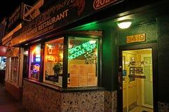 Vietnamees Restaurant bij Nacht Stock Foto