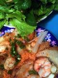Vietnamees straatvoedsel in Vung-Tau Stock Foto's