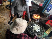 Vietnamees straatvoedsel, Vung-Tau, Vietnam Stock Fotografie