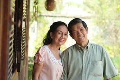 Vietnamees teruggetrokken paar Stock Foto's
