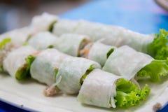Vietnamees varkensvlees en groentenbroodje Royalty-vrije Stock Foto