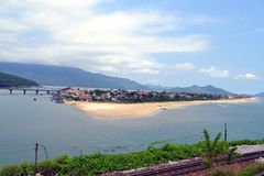 Vietnamees Visserijdorp royalty-vrije stock afbeeldingen