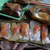 Vietnamees voedsel, banh nam, banh bot loc Stock Foto