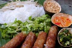 Vietnamees voedsel, de lentebroodje, broodje, chagio royalty-vrije stock afbeelding