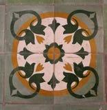 Vietnamees volksornament Vloerdecoratie wijnoogst Groene Kleur royalty-vrije stock afbeeldingen