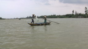 Vietnames Fishermen stock video